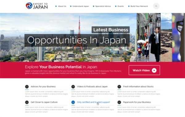 U.K. Government Export to Japan – Design